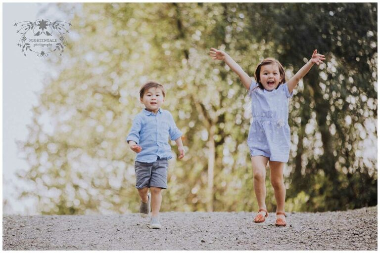 Lifestyle family portrait session in Walnut Creek by Nightingale Photography